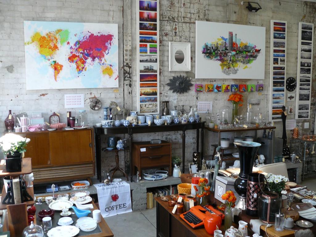 Blick in einen Design Shop in Maboneng