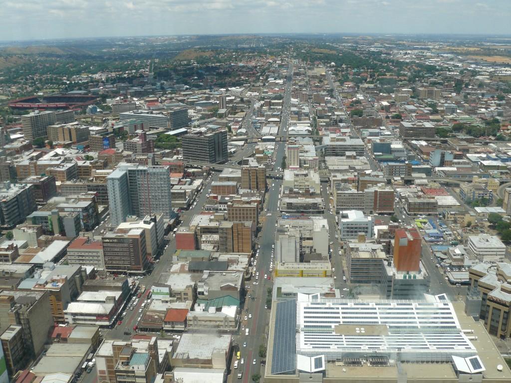 Blick vom höchsten Gebäude Johannesburgs