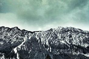 Blick auf die Berge in Oberstdorf