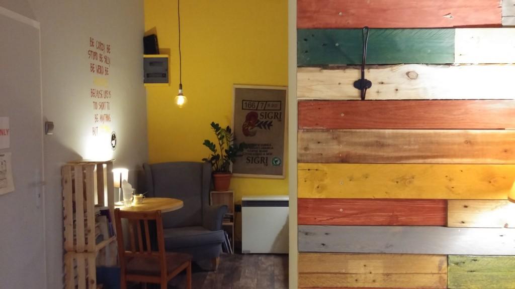 Gemütliche Einrichtung im Cafe Cytat