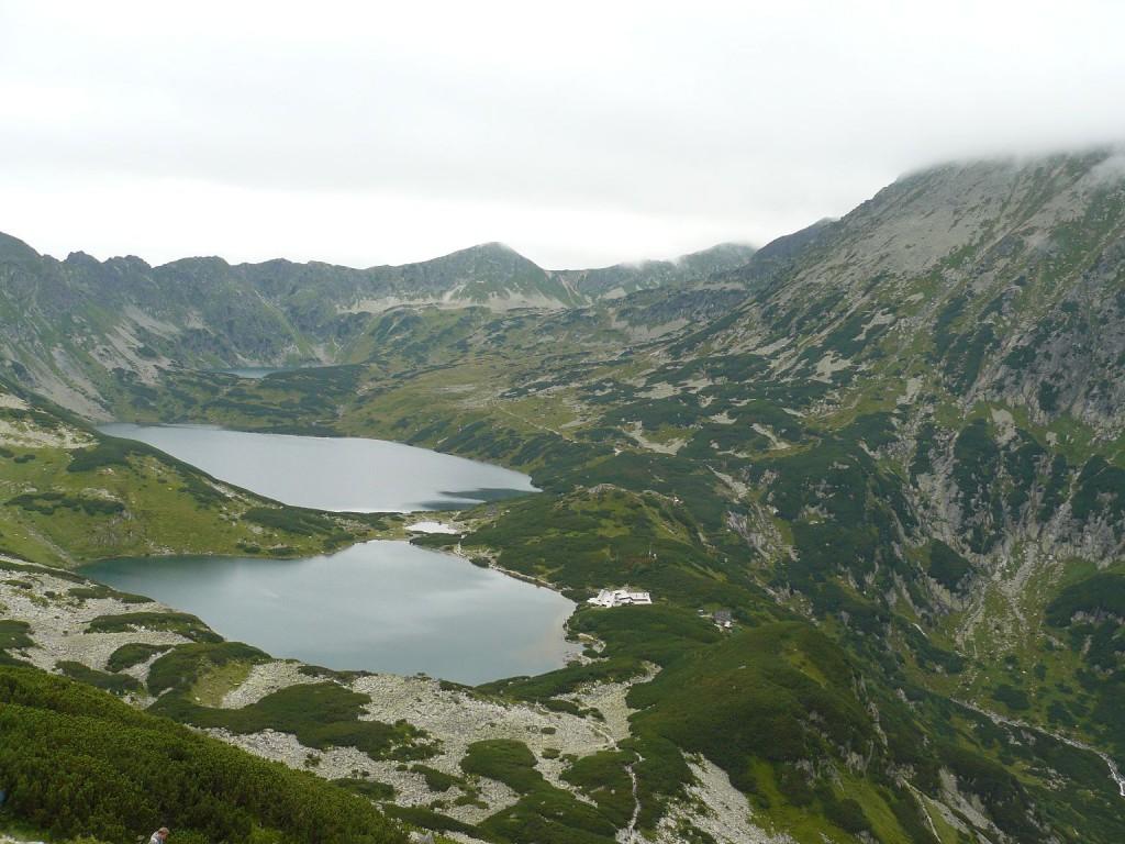 Blick auf das Tal der fünf Seen