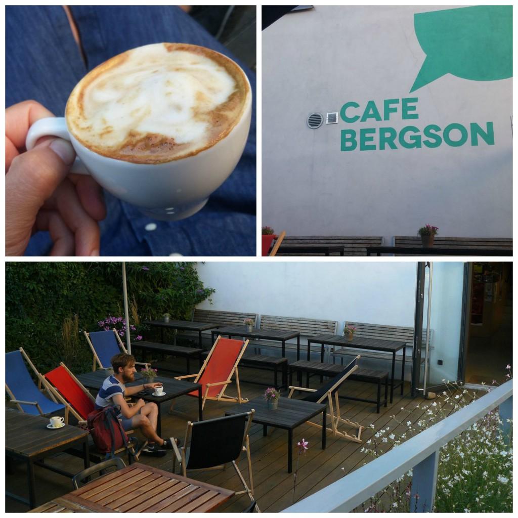 Hervorragender Kaffee auf der Dachterrasse des Café Bergson