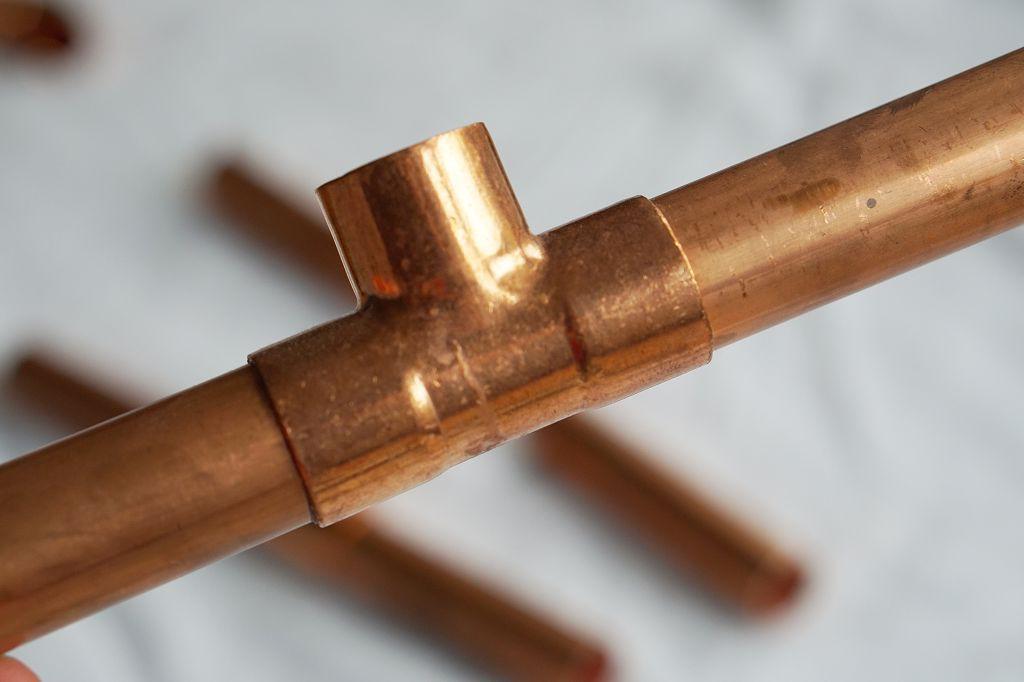 Adventskranz Kupfer Rohre T Stück
